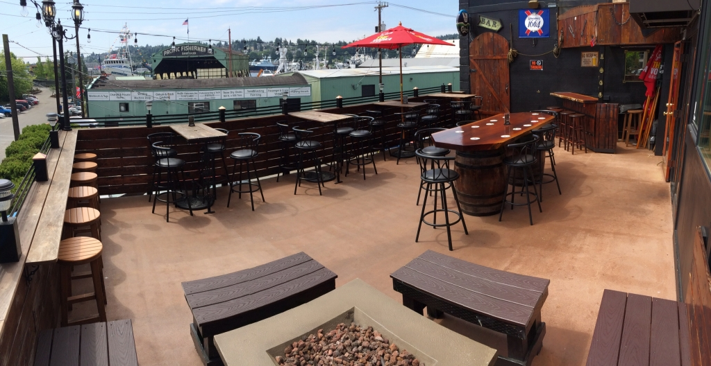 Our new sun deck is open, just in time for summer!